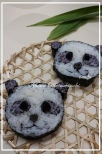 飾り巻き寿司 パンダちゃん